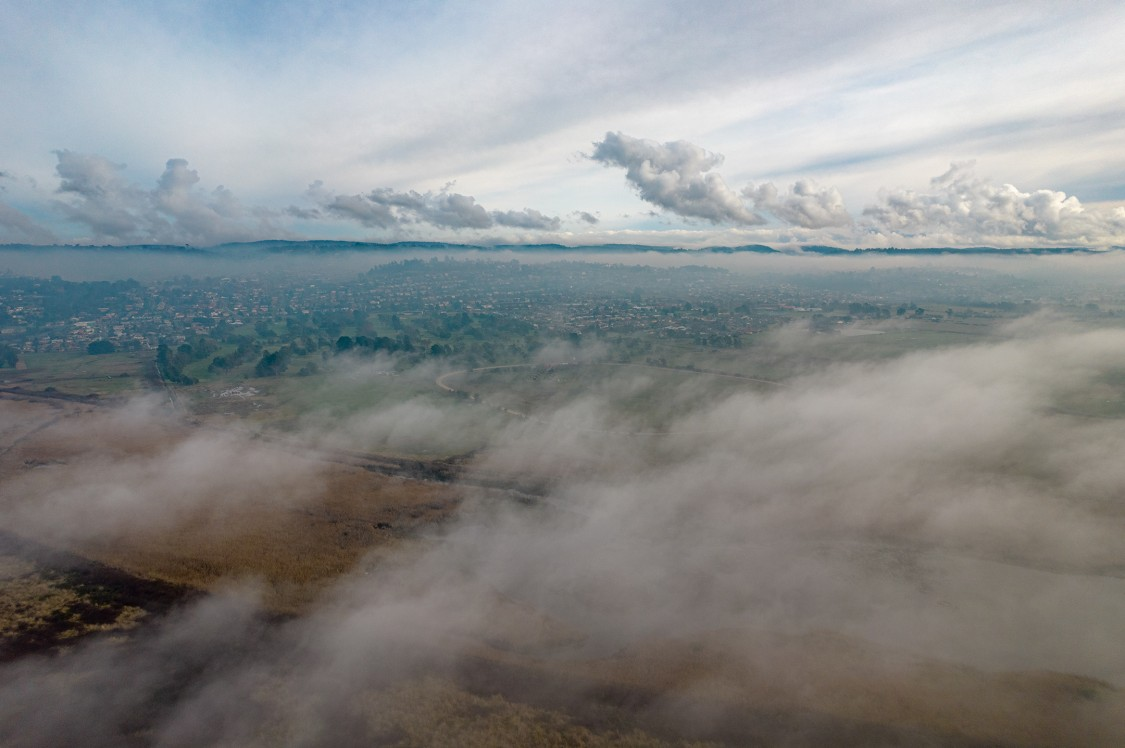 Above the clouds in George Town, Tasmania