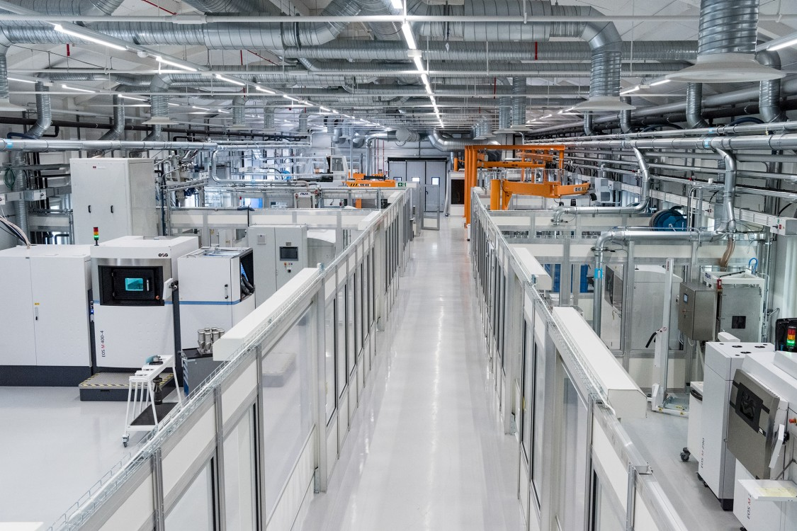Automated additive manufacturing workshop at Siemens Energy