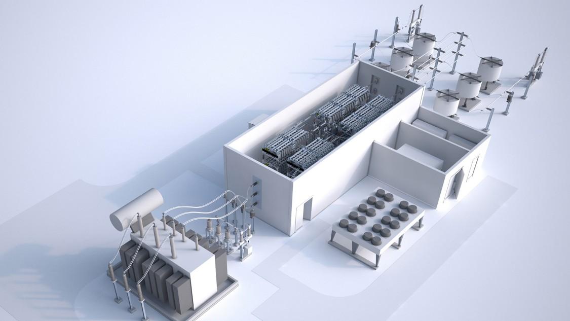 Autonomous distribution grids in power ranges up to 150 MW
