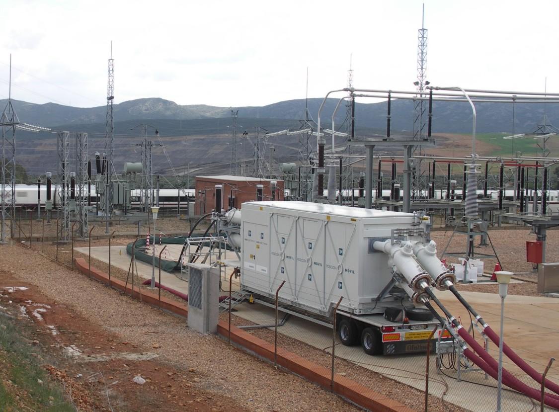 The 245 kV mobile substation installed in Spain.