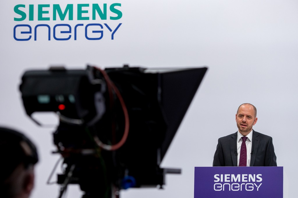 Siemens Energy CEO Christian Bruch welcomes the shareholders to the company's first Annual Shareholders' Meeting.
