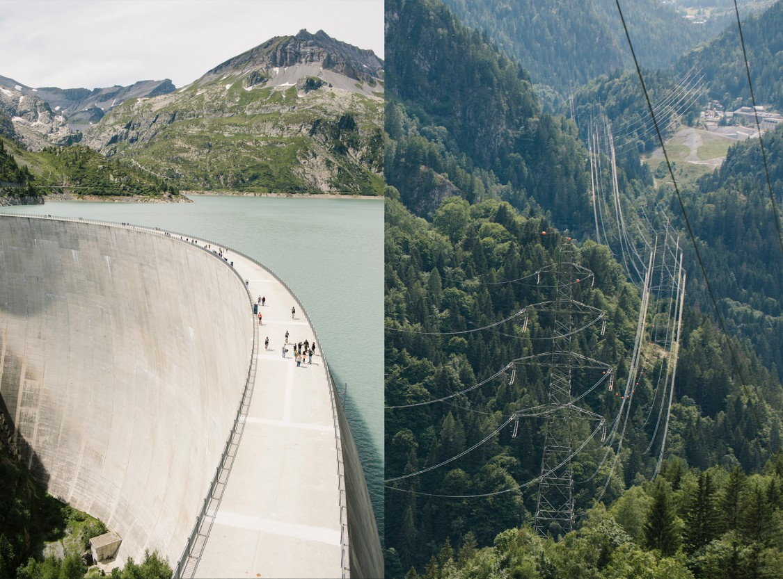 Impressive installations for electric power in the French alps