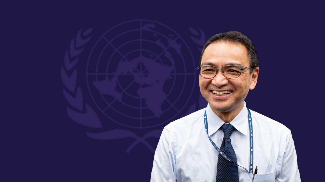Minoru Takada at UN Headquarters in New York