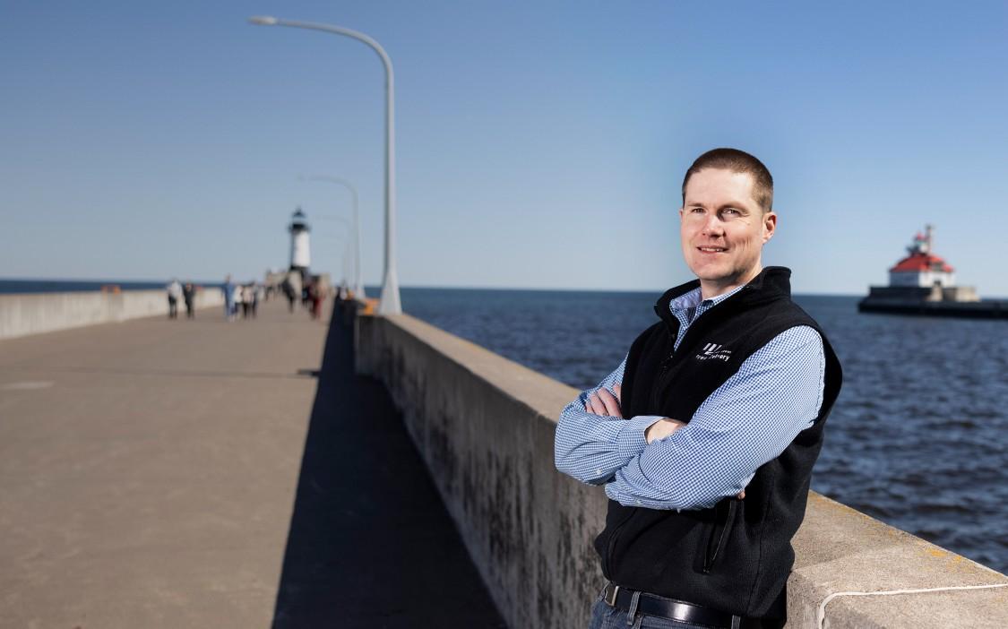 Exterior portrait of Christian Winter – Lake Superior