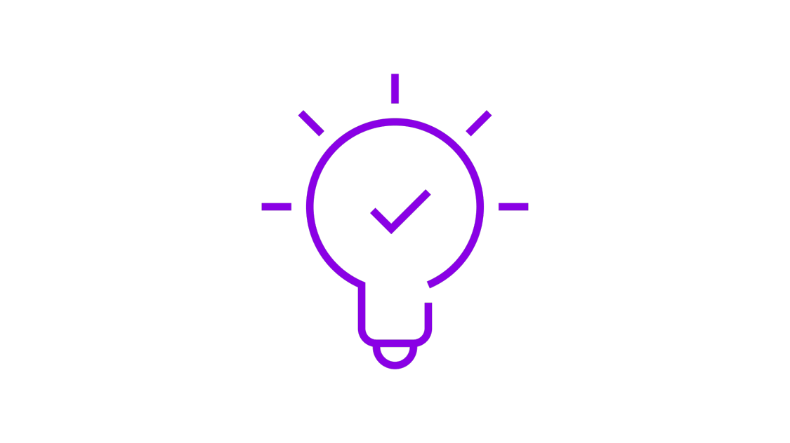 Lightbulb icon for powerfully intelligent benefits offered by hybrid power solutions – the right solution for places where an independent power supply is required
