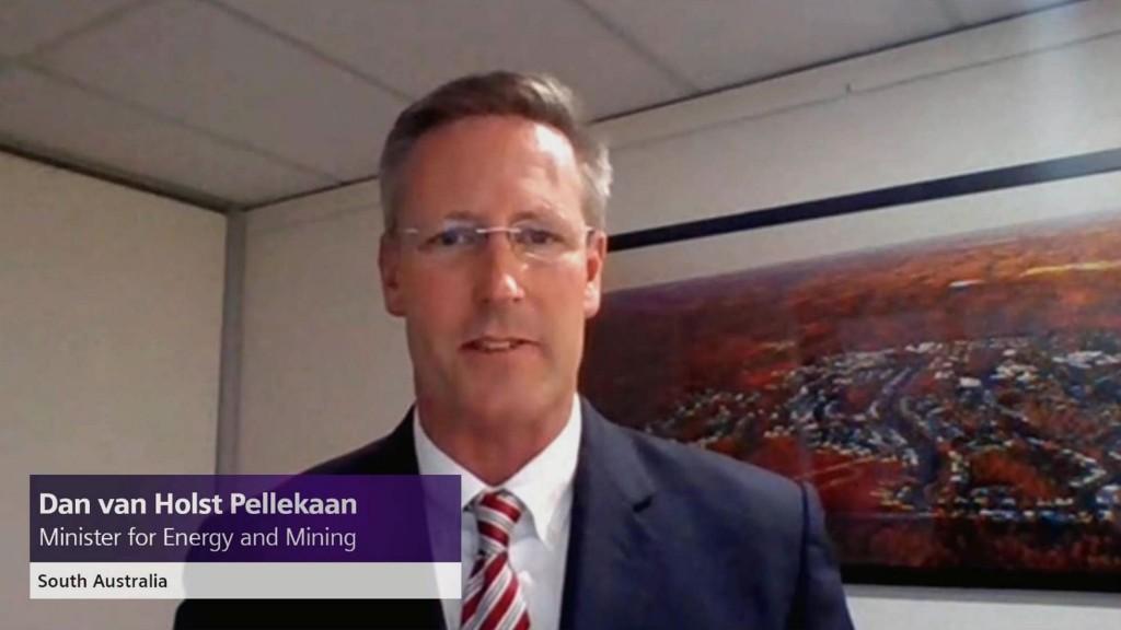 South Australian Minister for Energy and Mining-Hon Dan van Holst Pellekaan