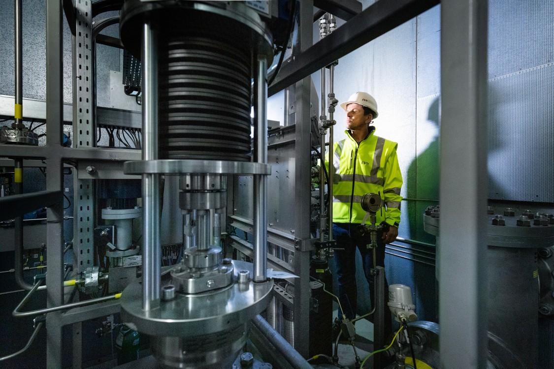 Display of H2 detection capabilities via the gas analyzer