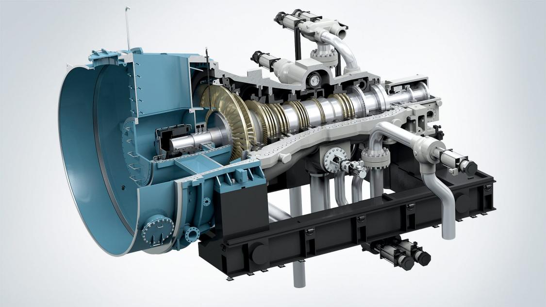 Steam turbine for fiber mill in Chile