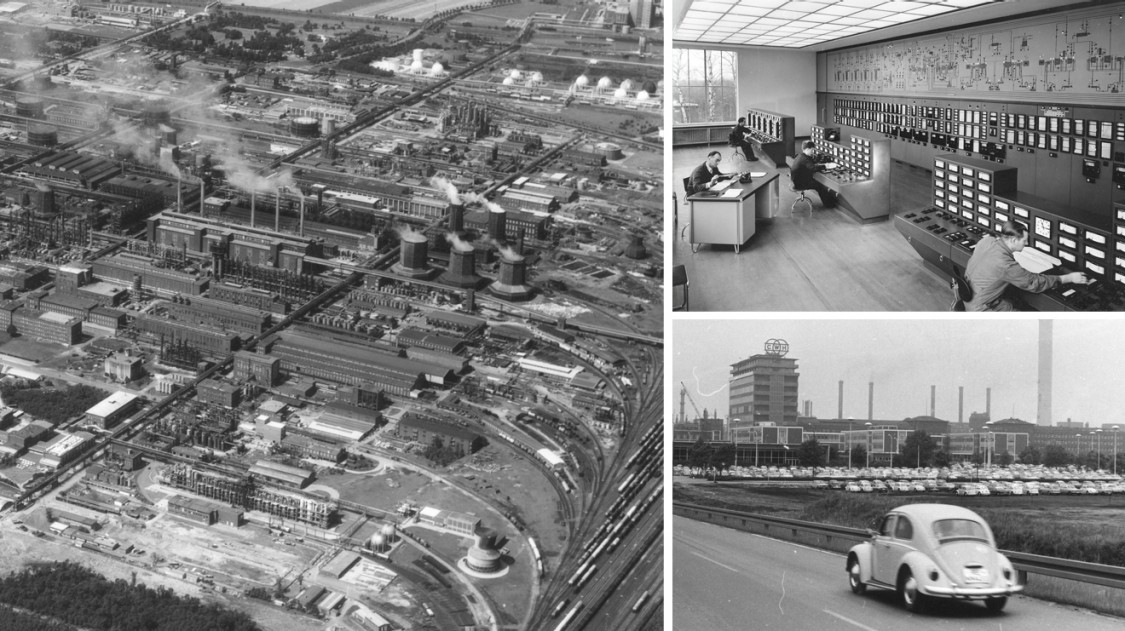 Chemiepark Marl in den späten 1960er Jahren