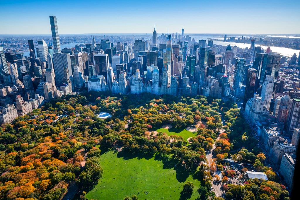 Skyline of New York, Central Park, New York, USA