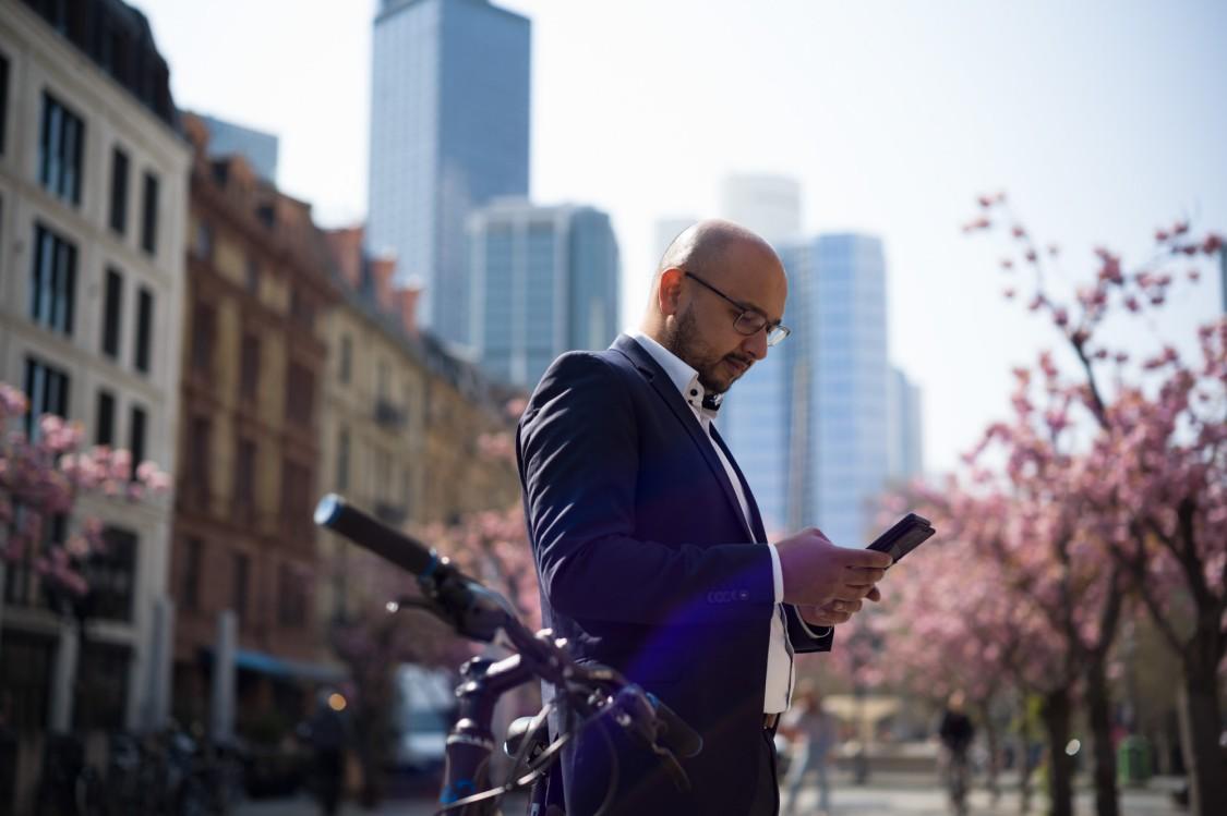 Business Owner Hamed Hossain in Frankfurt