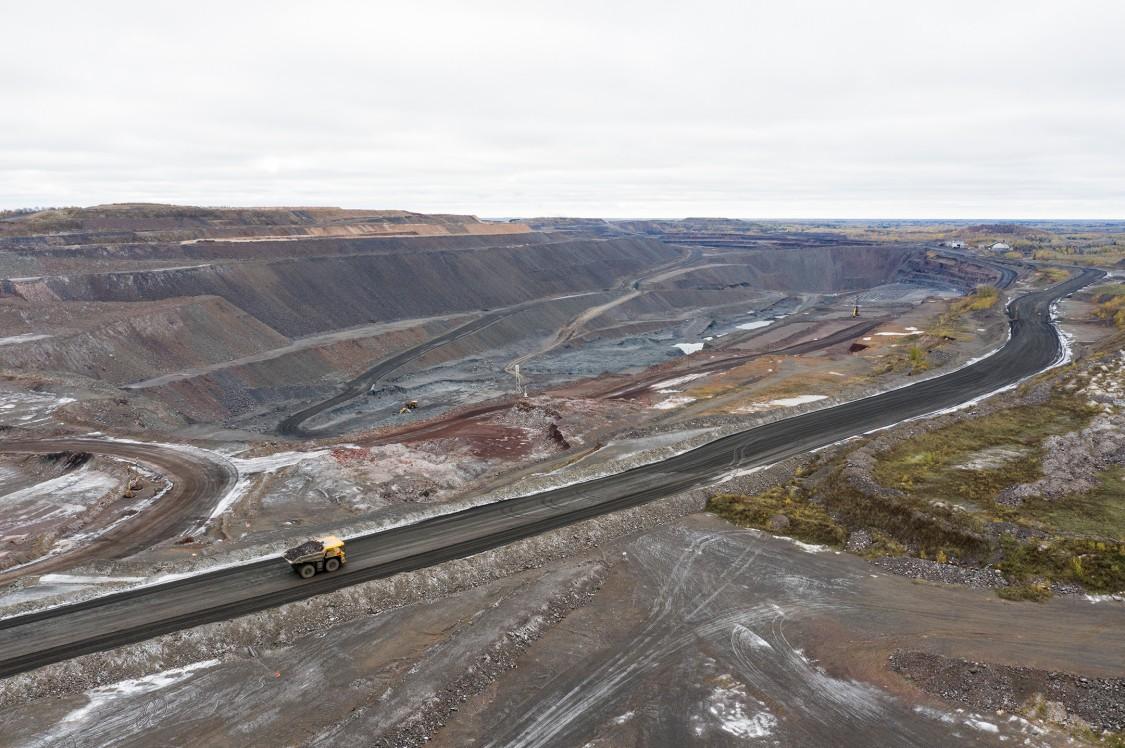 Aerial shot of Minnesota's Iron Range mining area