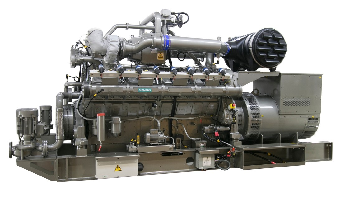 Gas engine for Fast Power solution from Siemens