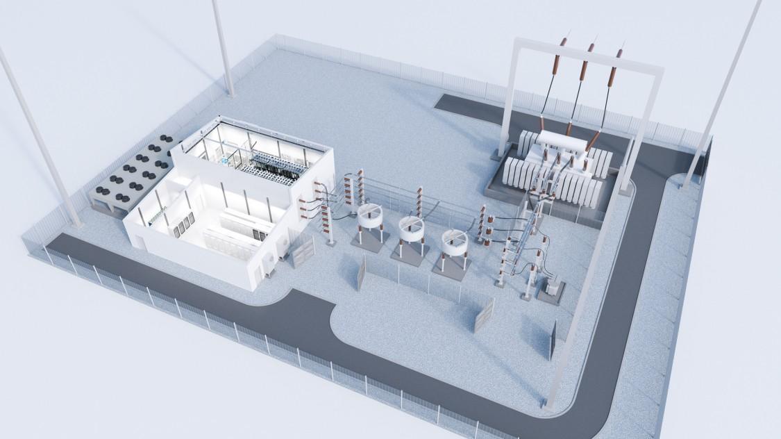 Computer model of SVC PLUS® STATCOM at customer Ameren