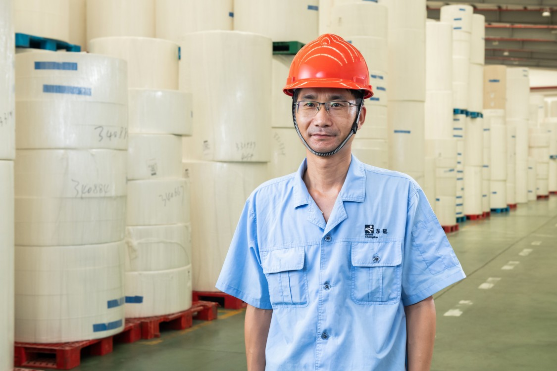 Chen Chaofeng, Energy Plant Manager at Shanghai Orient Champion Paper