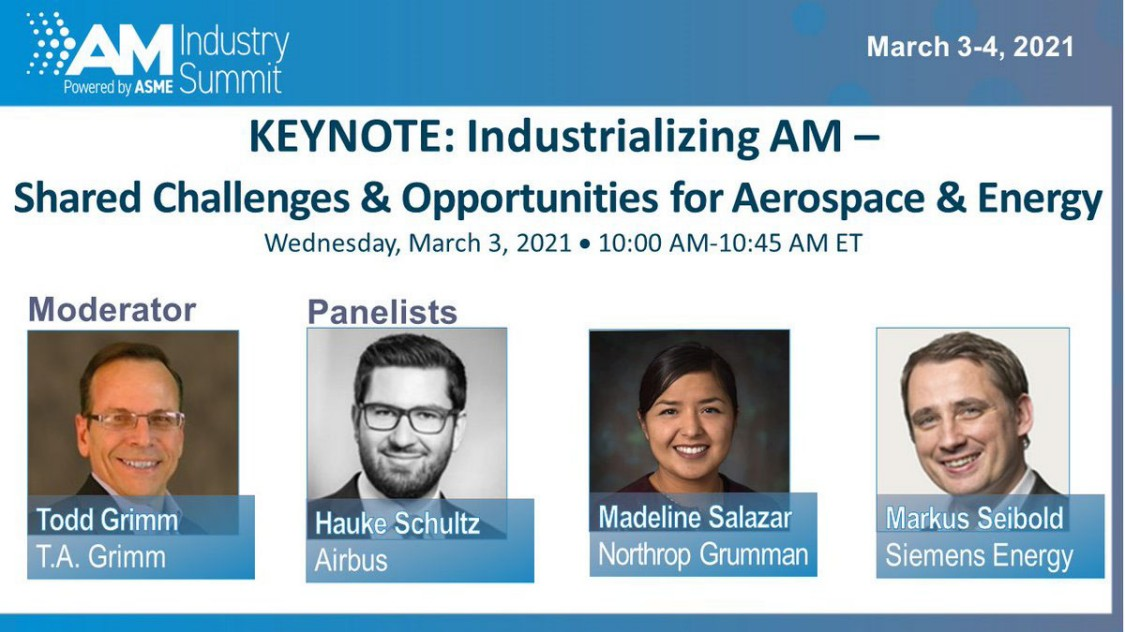 AM Industry Summit: Collective Intelligence for Additive Manufacturing