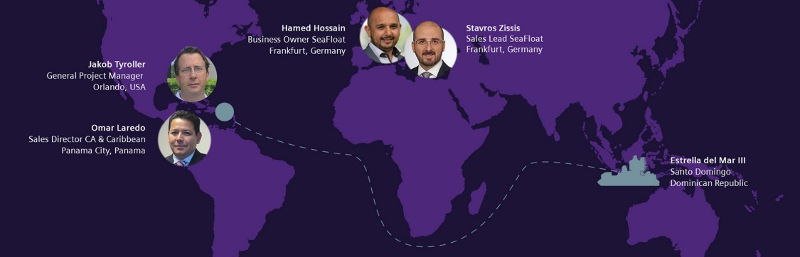 Worldwide SeaFloat team: Jakob Tyroller, Omar Laredo, Stavros Zissis, Hamed Hossain