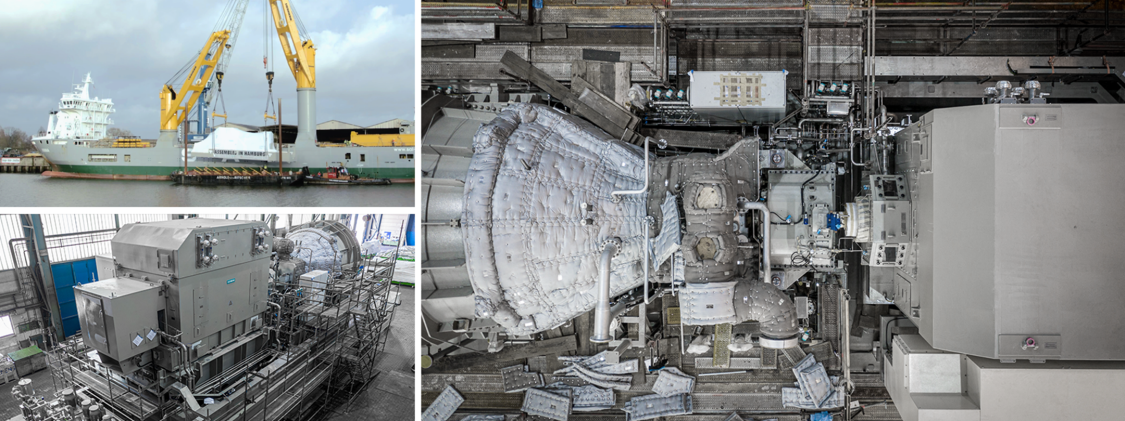 SST-600 steam turbine, SGT-800 gas turbine for SeaFloat floating combined cycle power plant