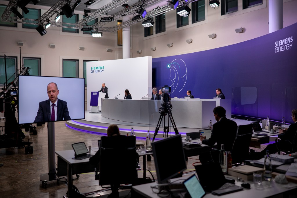 On February 10, 2021, the first Annual Shareholders' Meeting of Siemens Energy convened as a virtual shareholders' meeting.