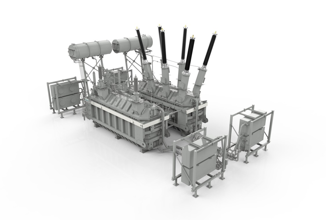 Rendering of a phase-shifting transformer