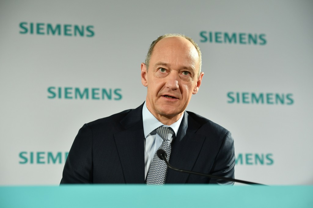 In the picture: Roland Busch, Deputy CEO, CTO, CHRO of Siemens AG.