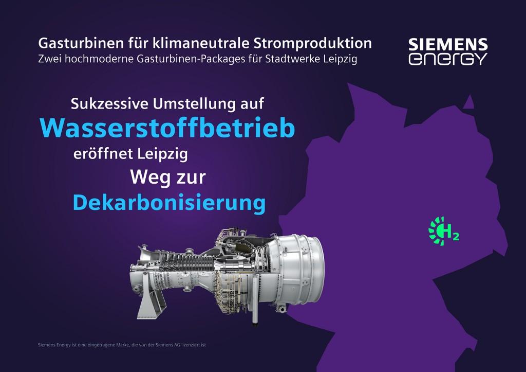 Gasturbinen von Siemens Energy ermöglichen klimaneutrale Energieversorgung der Stadt Leipzig