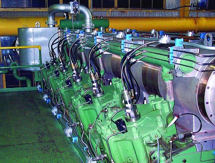 integral gas engine