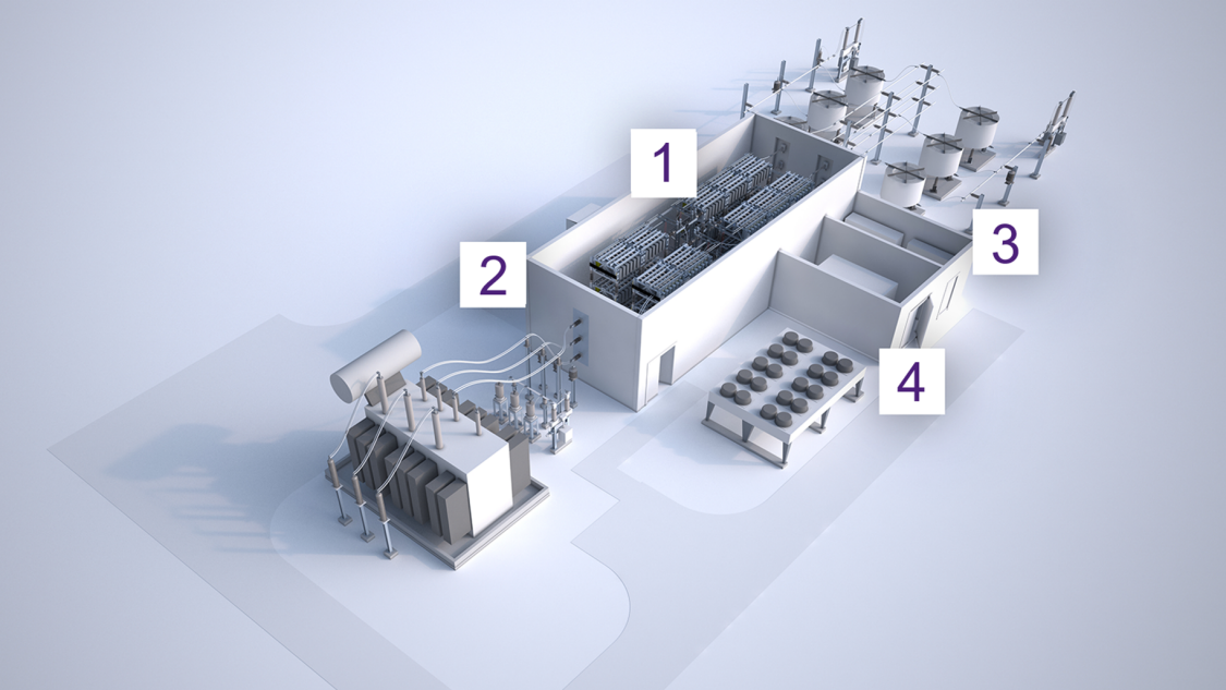 The MVDC PLUS® solution based on proven HVDC technology from Siemens Energy connects autonomous distribution networks