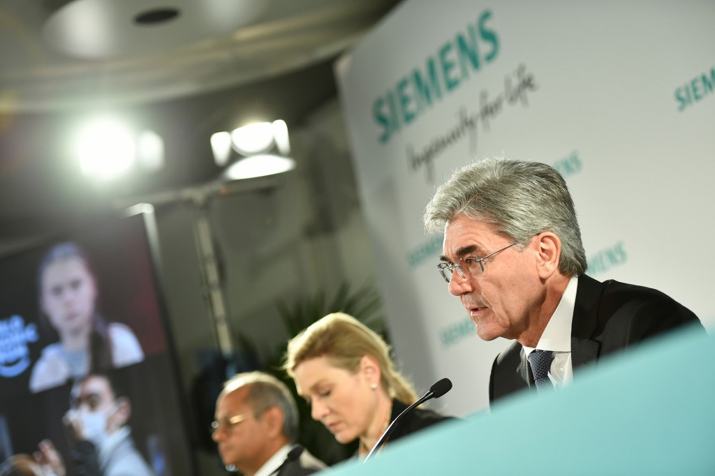 In the picture: Joe Kaeser, President and CEO of Siemens AG.
