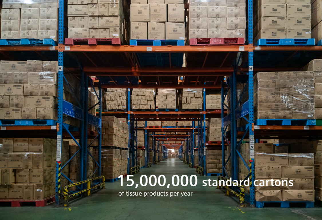 15,000,000 standard cartons of tissue products per year