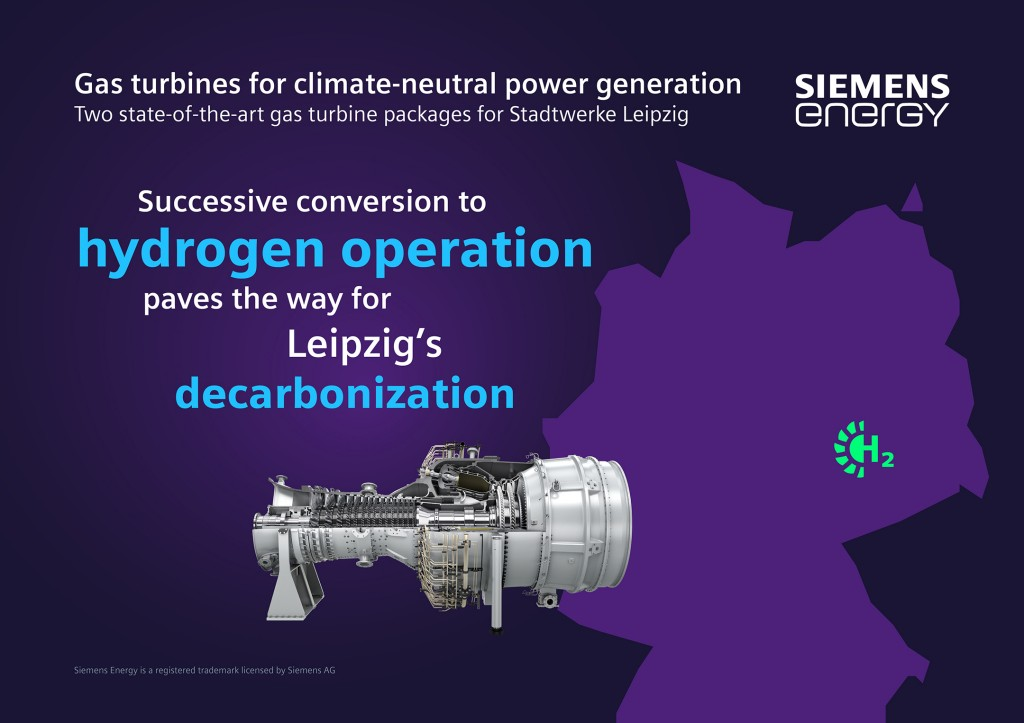 Gas turbines from Siemens Energy are providing Leipzig with a climate neutral power supply