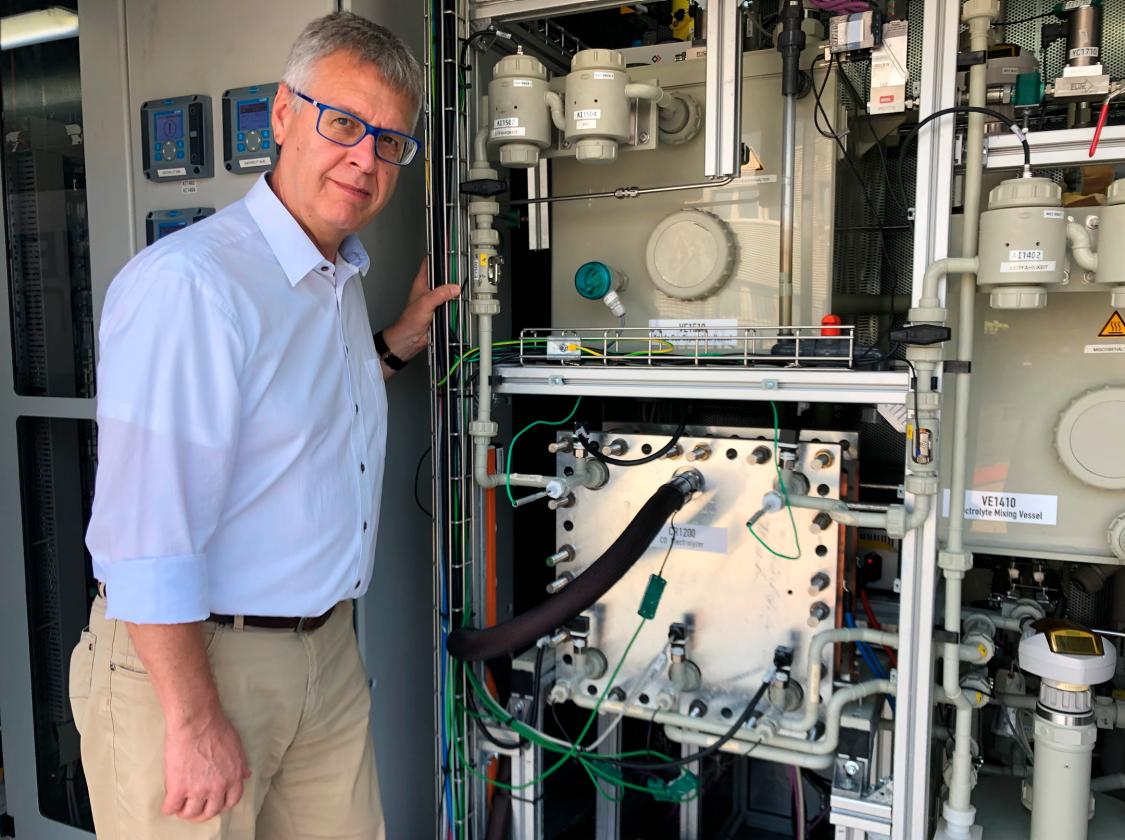 Karl-Josef-Kuhn, Leiter von Technology Field Power-to-X und Storage bei Siemens Energy, hat das Rheticus-Projekt von Anfang an begleitet.