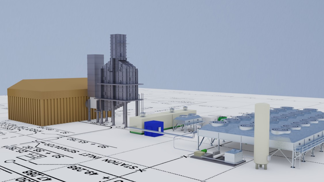 Project scenarion for waste heat power generation with turbines driven by supercritical CO2.