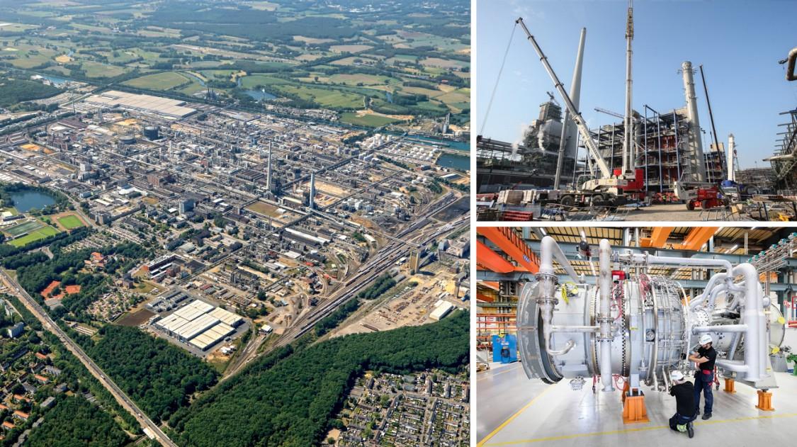 Modernisierung des Chemieparks in Marl, Deutschland
