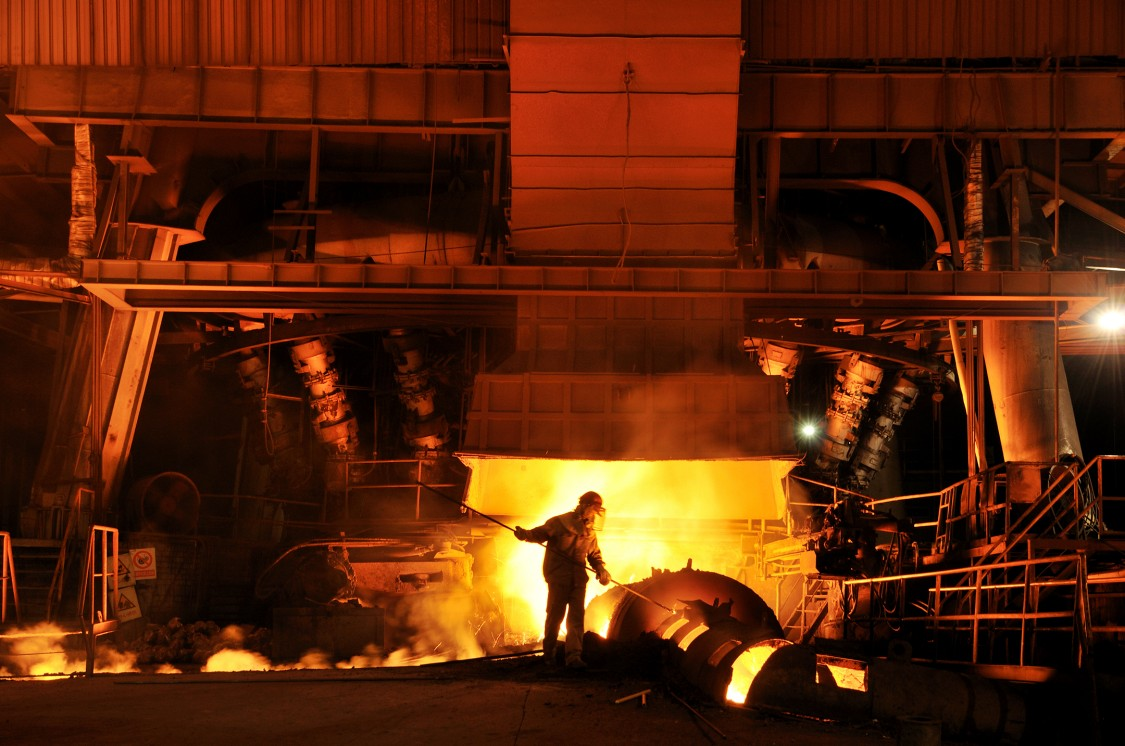 Working scenario in a steel works