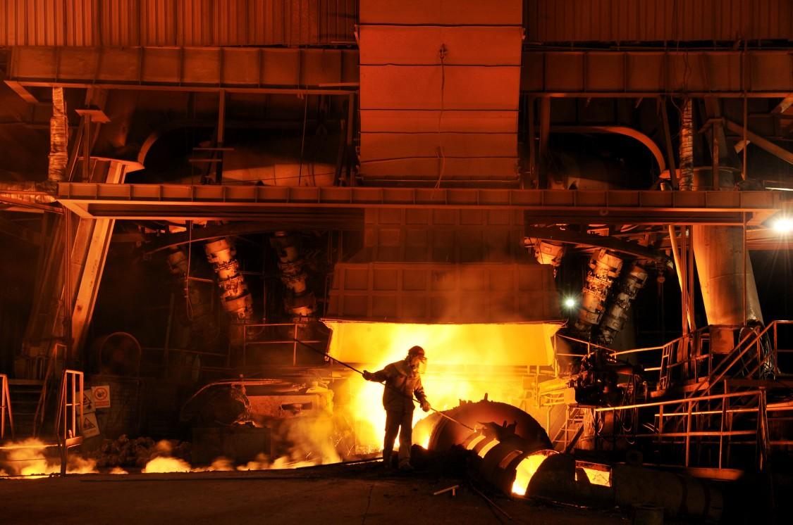 Working scenario in a steel works