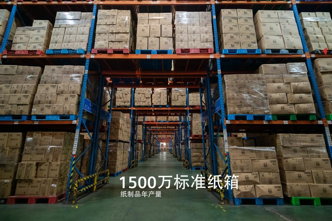 1500万标准纸箱 纸制品年产量