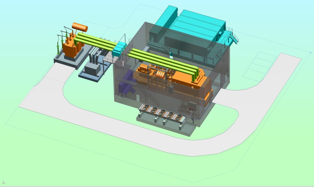 Technical drawing of the facility