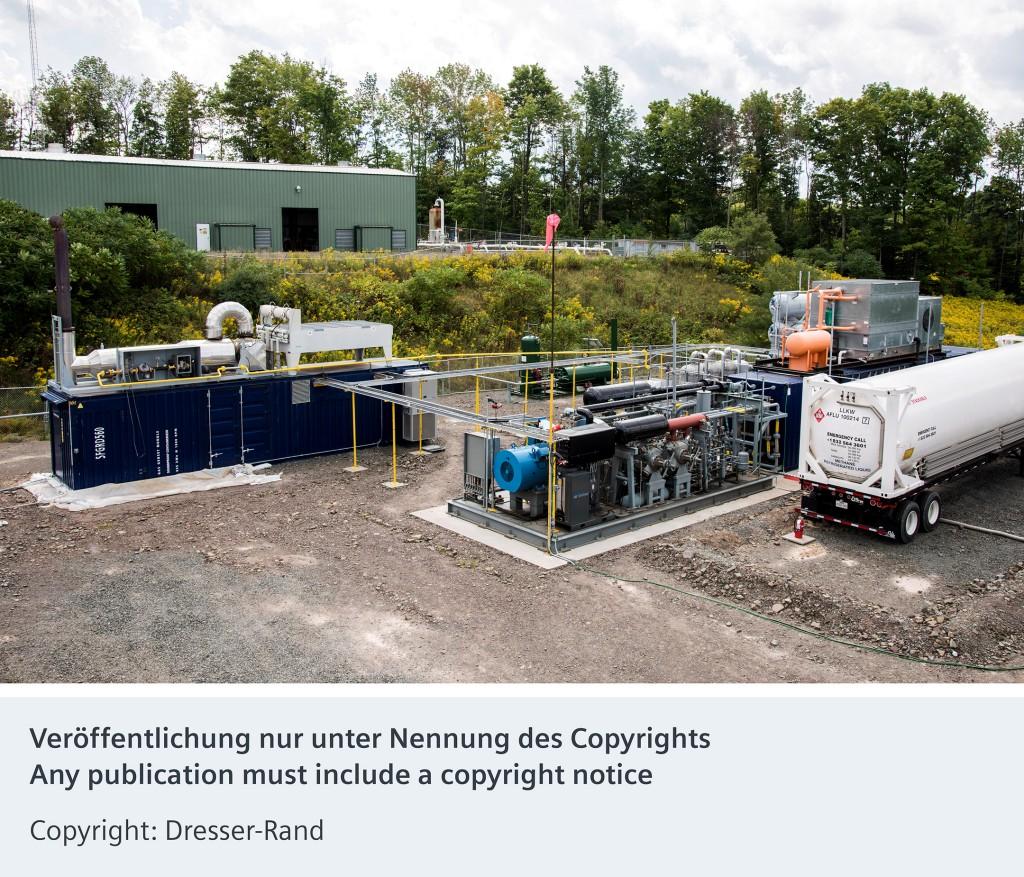 Erdgas-Verflüssigungsanlage (Liquefied Natural Gas, LNG)