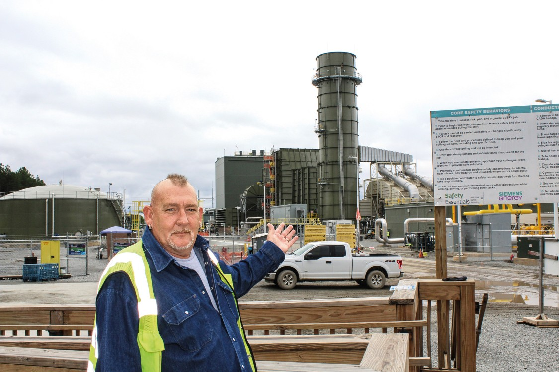 Malcolm Moore,  Siemens Energy's  Lincoln Site Manager.