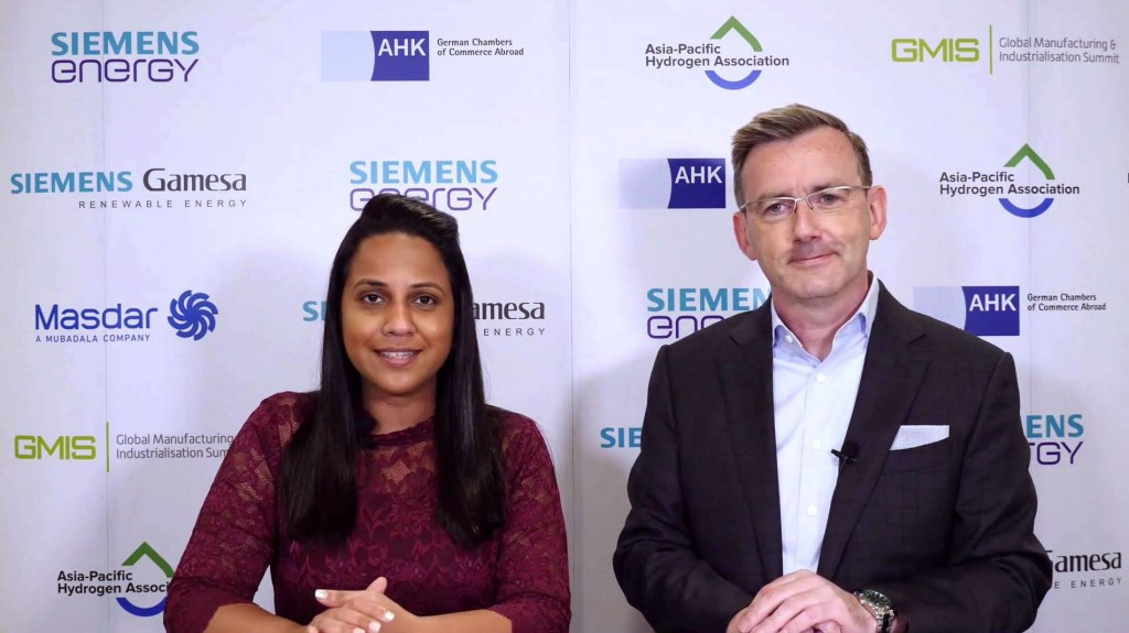 The Power Up Moderation session hosted jointly by Brian Bryne, Senior Vice President of Siemens Energy Asia Pacific-Hub (right)