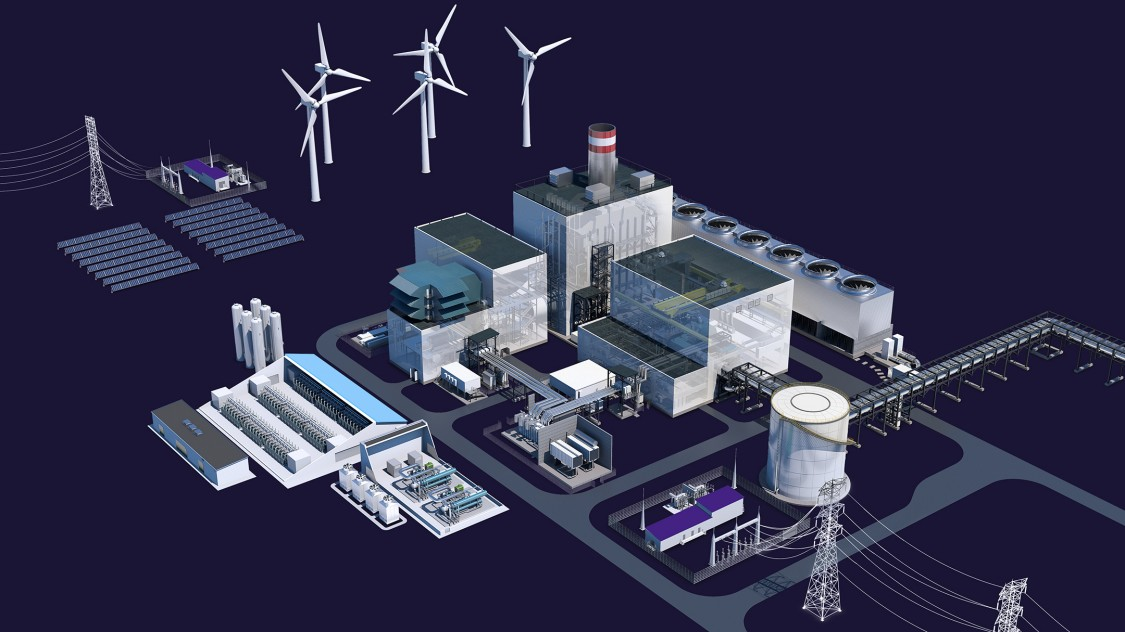 Graphic showing how you can reduce your carbon footprint with a hybrid power solution from Siemens Energy