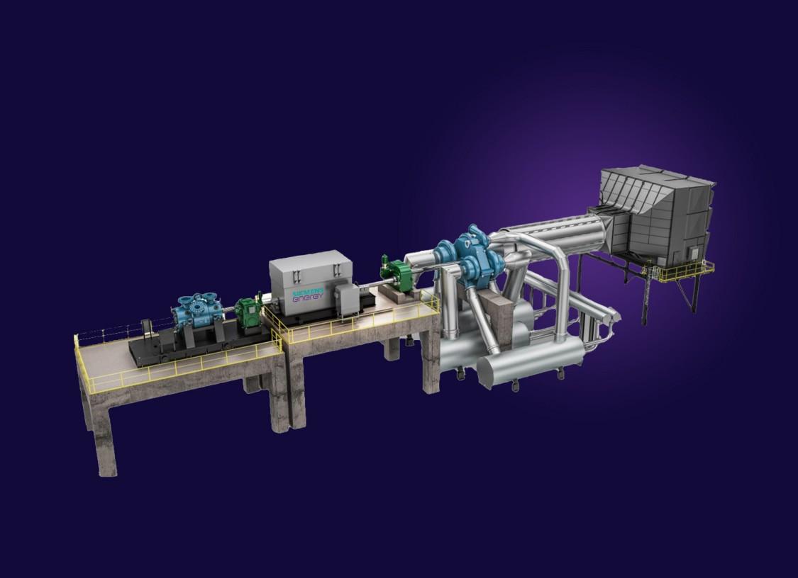 CAES compression train