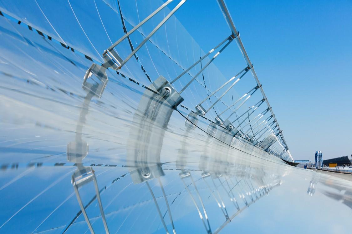 solar power plant, parabolic trough